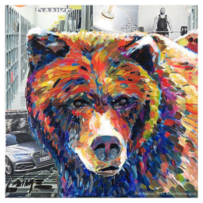 City bear mixed media artwork 800pxmw