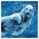 Polar bear mixed media artwork