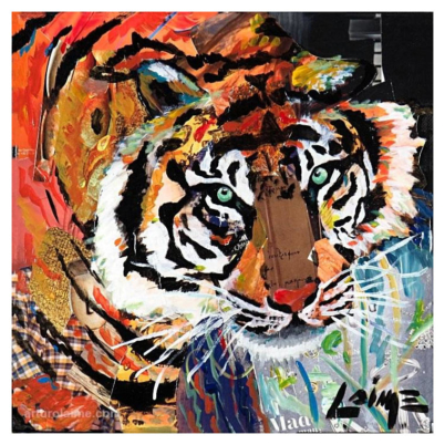 Tiger mixed media artwork 760pxmw