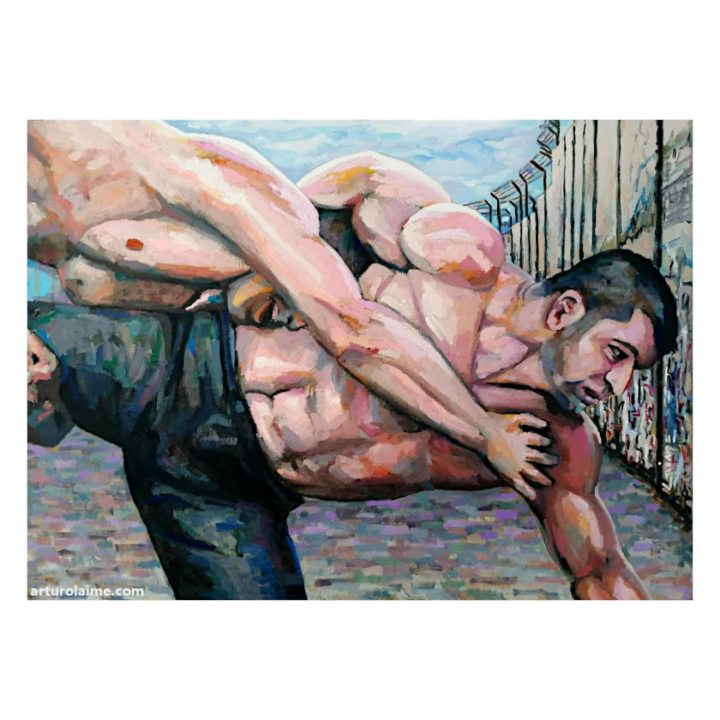 Fight at the wall artwork