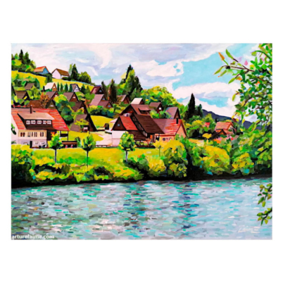 Nagold valley dam artwork